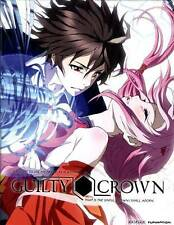 Guilty Crown: Part 1 (Blu-ray DVD 4-Disc Set) LTD. ED. with ART BOOKS RARE NEW!