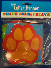 Puppy Paws Dog Pet Kids Birthday Party Decoration Jointed Foam Letter Banner