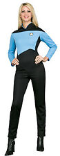 Womens X-Small Deluxe Star Trek Blue Jumpsuit Costume - Star Trek the Next Gener