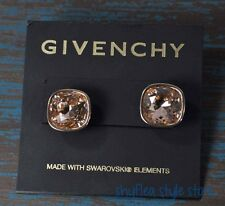 Givenchy Earrings Rose Gold Plated Rose Stud Earrings with Swarovski Elements