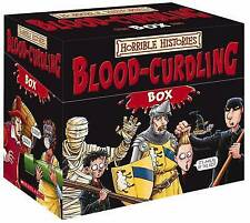 Terry Deary: HORRIBLE HISTORIES BLOOD-CURDLING Box of Books (20) NEW Imm.Post