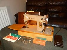 Vintage Singer 185K Electric Sewing Machine in Original Case Instructions & Accs