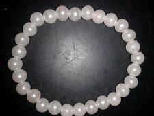 BEAUTIFUL WHITE BEADED BRACELET - (45)