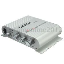 Silver 200W 12V Mini Hi-Fi Stereo Amplificatore Amplifier Radio 2Canali MP3 Auto