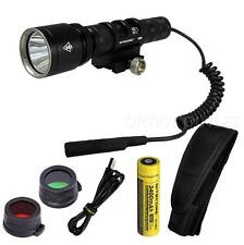 Nitecore MH25GT 1000 Lumens White, Red and Green Rechargeable Hunting Light Kit