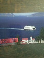 1 POST CARD WASHINGTON STATE FERRIES MUKILTEO WASHINGTON FULL COLOR CARD