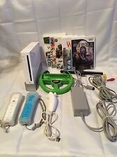 Nintendo Wii White Video Game System Console Bundle Gamecube Compatible