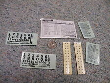 Walthers decals HO Freight 77-89 Pennsylvania cement hopper black A62