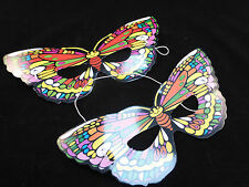 Cheap / Bargain Kids Colourful Elasticated Butterfly Masks x Set of 8