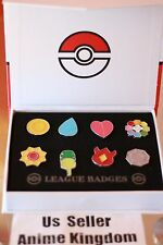 USA Seller Cosplay POKEMON GO Gym Badges in box Indigo League Set 8 Kanto Pin