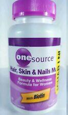 3x One Source Hair Skin & Nails Multi 60 Coated Caplets Biotin
