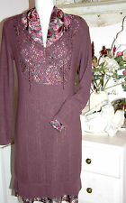 Noa Noa  Strick Kleid  Langarm Dress Vienna Knit Dark Fawn   size: S Neu