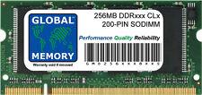 256MB ddr 266/333/400MHz 200-PIN sodimm mémoire ram pour ordinateurs portables