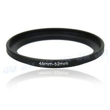 46-52mm Step-Up Metal Adapter Ring / 46mm Lens to 52mm UV CPL Filter Accessory