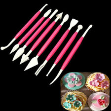 8Pcs Sculpting Carving/Modelling Tools Cake Decorating Sugar Paste/Fondant Clay