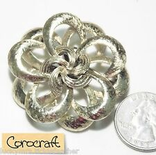 Vintage Signed COROCRAFT (Early Coro) Pin/Brooch, Large Openwork Layered Loops