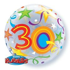 "22"" BUBBLE BALLOON ""30TH BIRTHDAY"" PARTY DECORATION - STRETCHY"