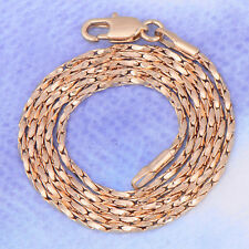 Yellow Gold Filled Handsome Mens Unisex Rope Chain Necklace Classic Gift