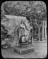 Glass Magic Lantern Slide DRAWING WATER  C1900 PHOTO MOROCCO ? ALGERIA ?