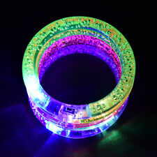 Sound Controlled Voice LED Light Up Bracelets Activated Glow Flash Bangle New CA