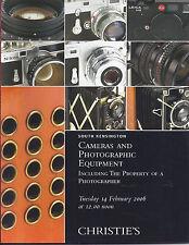 CHRISTIE'S CAMERAS Leica Nikon Canon Rollei Contax Pentax Auction Catalog 2006