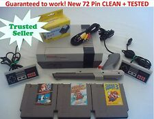 Nintendo NES Console System Bundle NEW PINS! Game lot Super Mario 1 2 3 TRILOGY