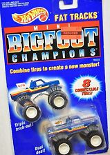 HOT WHEELS 1991 MINI BIG FOOT CHAMPIONS - FAT TRACKS W/ 8 CONNECTABLE TIRES