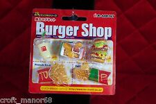 Re-Ment Miniatures - Burger Shop - 5 Piece Magnet Set - Japanese - 2007