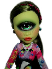 ☠ OOAK custom Monster High doll repaint Iris Clops cyclops goth bjd ☠
