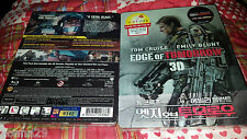 Edge Of Tomorrow 3D+2D Blu-Ray NovaMedia Quarter-Slip Spot Gloss Steelbook New+