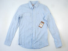 VINTAGE RED HALOGEN LIGHT BLUE SMALL BUTTON DOWN SHIRT MENS NWT NEW