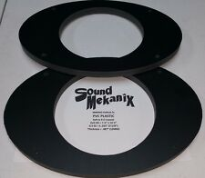 "PVC Plastic Speaker / Spacer Rings, 6x9"" to 6.5"" LARGE Adapters 12MM One Pair"