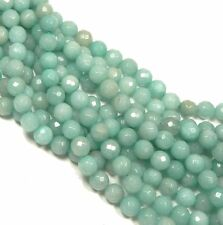 """10mm Amazonite Faceted Round Beads 40cm 15"""" Stone"""
