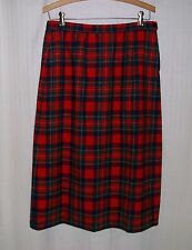 PENDLETON Royal Stewart Tartan Plaid 100% Wool Lined Straight Skirt Size 12
