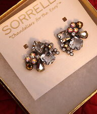 Sorrelli Snowflake 2006 Swarovski Crystals Clip Earrings Clip Hard to find NEW