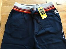 Men's BNWT Dk Navy DRUNKNMUNKY multi colour ribs, jog /casual pants, M,