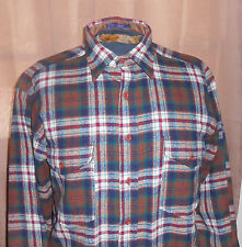 Pendleton Outdoorsman - Brown Blue Plaid - Long Sleeve Flannel -Country/Grunge-M