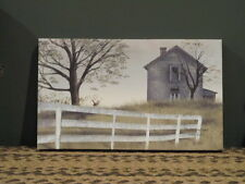 """**Primitive Country Rustic Canvas Print - Billy Jacobs-""""The Old Grey House""""!!**"""