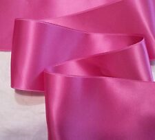 """4"""" WIDE SWISS DOUBLE FACE SATIN RIBBON- HOT PINK - BTY"""
