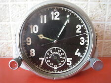 Orig.5-day Soviet 40's-made Air Force Cockpit Clock AChX with TIMER MiG/Su jet