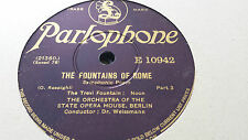 RESPIGHI THE FOUNTAINS OF ROME SYMPHONIC POEM PARLOPHONE E10941 & 10942