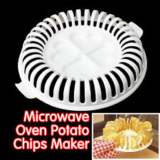 Home Microwave Oven Apple Fruit Potato Crisp Chip Slicer Snack DIY Maker Tray
