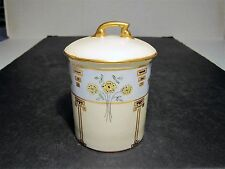Antique T&V Limoges Porclain Fancy Condensed Milk Covered Container