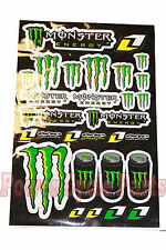 MONSTER ENERGY ONE INDUSTRIES STYLED STICKER DECALS GRAPHIC ATV QUAD MOTORCYCLE