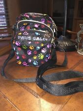 PAWS GALORE CROSSBODY BAG MULTI COLOR ZIPPER PURSE BY THE ANIMAL RESCUE SITE