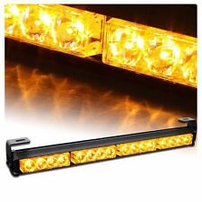 Auto Truck 16 LED Amber Emergency Traffic Advisor Flash Strobe Light Bar Warning