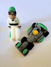 Edible F1 Car Lewis Hamilton And Figure Detailed Cake Topper Decoration