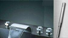 5pcs Set Baignoire bassin cascade Robinet mitigeur chromé Robinet Faucet FR-80B1