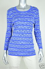 Jones New York New Blue Cotton Knit Crew Neck  Pullover Sweater Top MSRP $79 XL