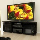 Black TV Stand Entertainment Center Media Furniture Console Storage Cabinet New